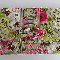 Nwt Vera Bradley Knot Just a Clutch Make Me Blush Green Quilted Purse & Strap Photo