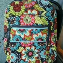 Nwt Vera Bradley Large Campus Backpack in Mckeys Perfect Petals Actual Bag Photo