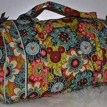 Nwt Vera Bradley Large Duffel Mickey's Perfect Petals Disney Collection Photo