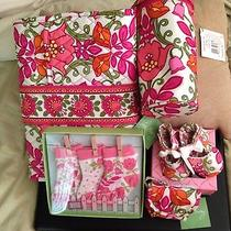Nwt Vera Bradley Lilli Bell  Baby Lot Shoessocksbottle Caddypod Changing Pad Photo