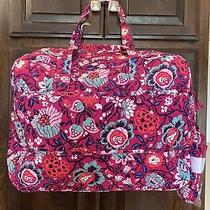 Nwt  Vera Bradley Medium Traveler Bag  Carry on Shoulder Bag  Bloom Berry Photo