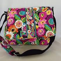 Nwt Vera Bradley Messenger Baby Bag in Va Va Bloom Diaperbag Free Bottle Caddy Photo