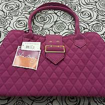 Nwt Vera Bradley Microfiber Buckle Satchel Handbag & Matching Wallet in Magenta Photo