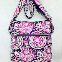 Nwt Vera Bradley Midtown Hipster 23791-L15 Lei Flowers Pink Purple Floral Print Photo