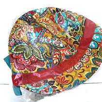 Nwt Vera Bradley Newsgirl Hat -  Provencal Pattern  - 12489-129 Photo