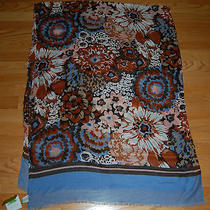 Nwt Vera Bradley Oblong Scarf Madison Garden Blush Floral Fringe 73 Inches Vegan Photo