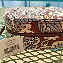 Nwt Vera Bradley Oval Travel Jewelry Box Case in Retired Slate Bloom Pattern Htf Photo