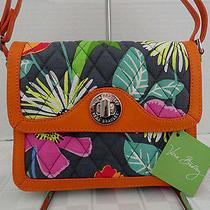 Nwt Vera Bradley - Patricia Crossbody Purse Jazzy Blooms - Retail 88 Free Ship Photo