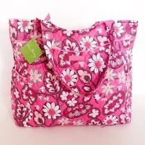 Nwt Vera Bradley Pleated Tote Shoulder / Hand Bag in Blush Pink Photo