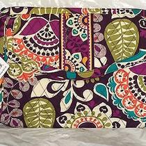 Nwt Vera Bradley Plum Crazy Hipster Crossbody Tablet Bag Fits Android/apple Photo