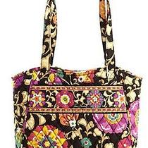 Nwt Vera Bradley Quilted Holiday Tote Purse Suzani Retired Authentic  Photo