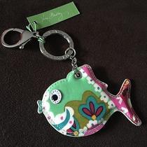 Nwt Vera Bradley Seashore Keychain Key Ring Fish in Tutti Frutti W/claw Clasp Photo