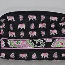 Nwt Vera Bradley Small Cosmetics in Pink Elephant Jewelry Fast Shipping Photo