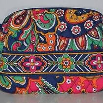 Nwt Vera Bradley Small Cosmetics in Venetian Paisley Jewelry Fast Shipping Photo