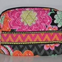 Nwt Vera Bradley Small Cosmetics in Ziggy Zinnia Jewelry Fast Shipping Photo