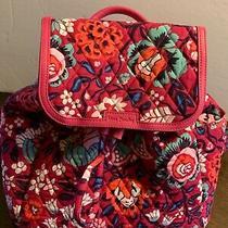 Nwt Vera Bradley Small Fashion Backpack Purse Bloom Berry    Photo