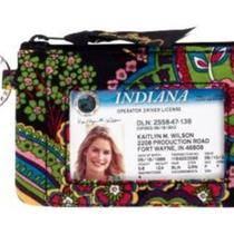 Nwt Vera Bradley Symphony in Hue Zip Id Case New Photo