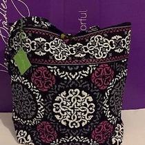 Nwt Vera Bradley Tote Large Purse Handbag Shopping in Canterberry Magenta Photo