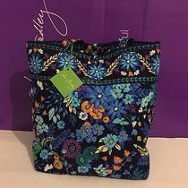 Nwt Vera Bradley Tote Large Purse Handbag Shopping in Midnight Blues Photo