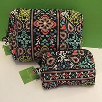 Nwt Vera Bradley Travel Large & Small Cosmetic Bags Set in Sierra Photo