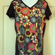 Nwt Vera Bradley Uniqlo Women v-Neck T-Shirt in Flower Shower Japanese Size Xl  Photo