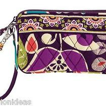 Nwt Vera Bradley Wristlet in Plum Crazy Zip Wallet Bag Purse 12180 137 Co Photo