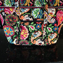 Nwt Vera Bradley Xl Vera Tote Disney Midnight With Mickey  Photo