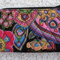 Nwt Vera Bradley Zip Around Wallet  Symphony in Hue Photo
