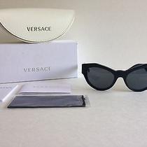 Nwt Versace 4253 Sunglasses Gb1/87 Black 53mm Cat Eye Authentic Photo