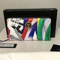 Nwt Versace Clash Print Icon Zip Around Wallet New With Tags and Box Photo