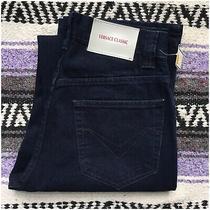 Nwt Versace Classic Dark Indigo Blue Jeans Pants 28 Long Straight New V2 Italy Photo