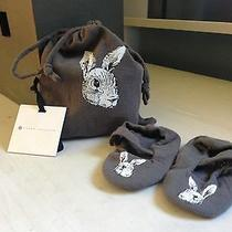 Nwt Victoria Beckham for Target Grey Bunny Rabbit Booties W/pouch Sz 0-3 Months Photo