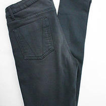 Nwt Victoria Beckham Graphite Gray Denim Ankle Crop Low Rise Skinny Jeans Sz 24 Photo