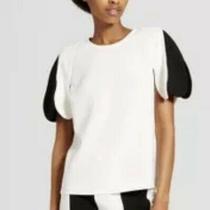 Nwt Victoria Beckham Target White Black Scallop Shirt Top Photo