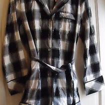 Nwt Victoria's Secret Blk Plaid Flannel Romper 1 Pc Pajamas Size S Msrp 79.50 Photo