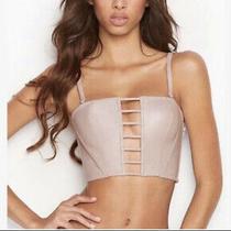Nwt Victorias Secret Faux Leather Bustier Corset Medium Photo