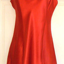 Nwt Victoria's Secret Medium Red Slip Nightie Shirt Photo