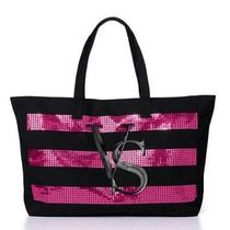 Nwt Victoria's Secret Pink Black Holiday2014 Friday Tote Bling vs Rare Bag Purse Photo