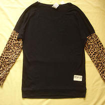 Nwt Victoria's Secret Pink Cheetah Leopard 2014 Varsity Boyfriend T Shirt Top S Photo