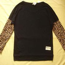 Nwt Victoria's Secret Pink Cheetah Leopard 2014 Varsity Boyfriend T Shirt Top Xs Photo