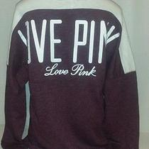 Nwt Victoria's Secret Pink  Long Sleeve Varsity Crew Neck Graphic Sweatshirt M Photo