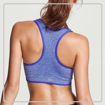 Nwt Victoria's Secret Seamless Reversible Sport Bra/solid-Marled Blue/xs Photo