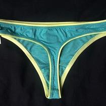 Nwt Victoria's Secret Thong - S - Soft Microfiber Neon Green Panties Photo