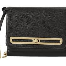 Nwt-Vince Camuto Anika Leather Turnlock Crossbody-Black-Msrp 158 Photo