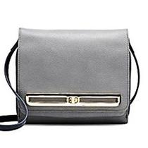 Nwt-Vince Camuto Anika Leather Turnlock Crossbody-Gray Peacoat-Msrp 158 Photo