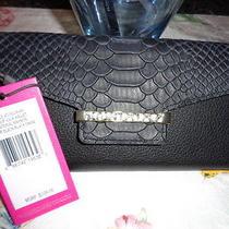 Nwt Vince Camuto Julia Checkbook Holder Wallet Color Black Gorgeous Photo