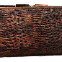 Nwt Vince Camuto Nadia Leather Frame Organizer Slim Snap Clutch Wallet Whiskey Photo