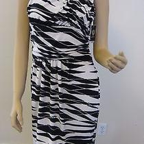 Nwt Vince Camuto Nautical Navy/white One Shoulder Matte Jersey Dress Size Small Photo
