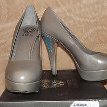 Nwt-Vince Camuto Platform Heels Gray Size 10m-Super Sale Photo