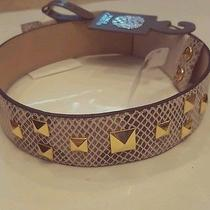 Nwt Vince Camuto Size M/l Ladies Python Leather Belt W/ Gold Tone Studs 55 Photo